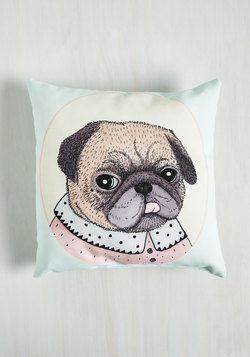 Paws for Reflection Pillow in Pug