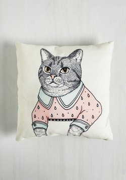 Paws for Reflection Pillow in Cat