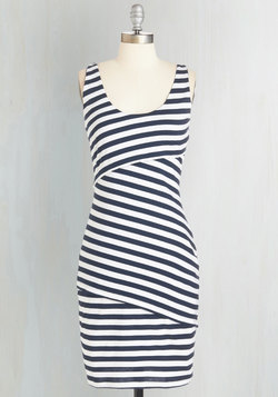 Rain Catcher Dress in Navy