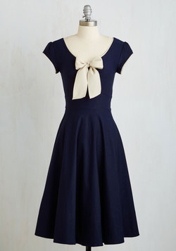 All That and Demure Dress in Navy