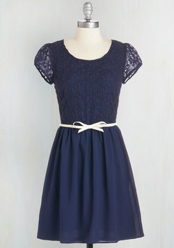 Subtly Sweet Dress in Navy