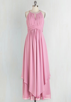 Dancing Cheek to Sleek Dress in Dusty Rose