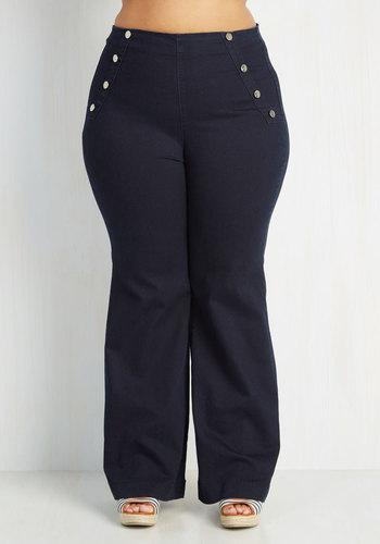 Sailorette the Seas Jeans in Dark Wash - Plus Size $69.99 AT vintagedancer.com