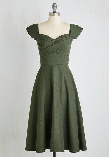 Pine All Mine Dress in Evergreen $179.99 AT vintagedancer.com