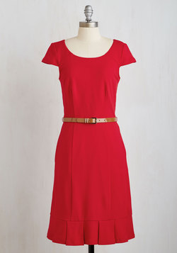 My Byline of Work Dress in Red