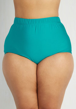 Seaside Serenity Swimsuit Bottom in Lagoon - Plus Size