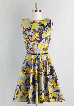 Luck Be a Lady Dress in Daffodils