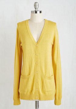 Have a Good Knit Cardigan in Saffron