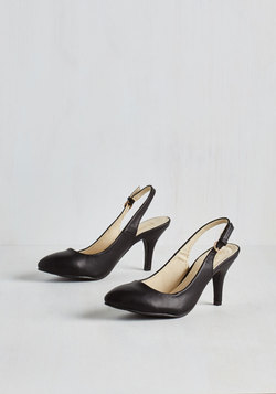 Slingback to the Basics Heel in Black