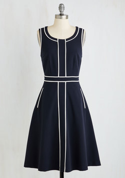 Roving Reporter Dress in Navy