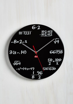 Home & Gifts - Solve Some Time Clock in Black