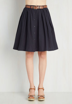 Living the Dream Skirt in Navy