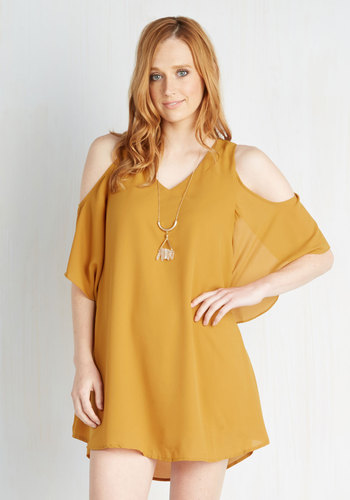 Flutter-ly Fabulous Dress in Goldenrod
