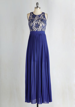 Romantic Semantics Dress in Sapphire