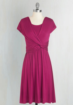 Take It to Art Dress in Magenta