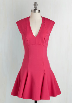 A Dash of Flair Dress in Magenta