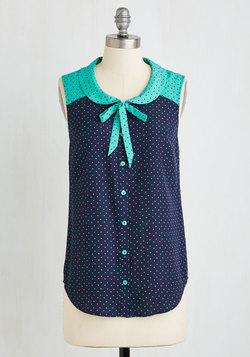 Fashionably Elate Top in Blue