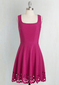 Eyelet Getaway Dress in Fuchsia