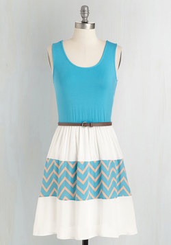 Day Cruise Dress in Cerulean