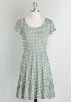 Is That All You Dot? Dress in Sage