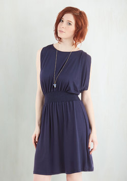 Strike a Repose Dress in Navy