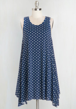 The Swingingest Spots Dress in Blue Dots