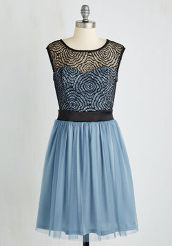 Starlet's Web Dress in Dusty Blue