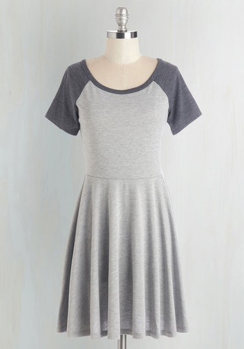 Revel the Playing Field Dress in Grey
