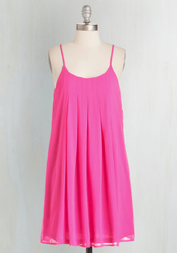 Getaway Goddess Dress in Fuchsia