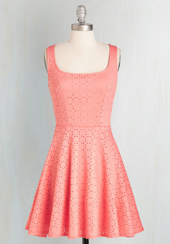 Split Precision Dress in Coral