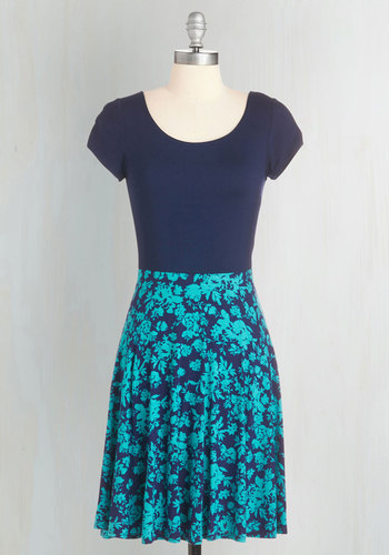 Cheers to Casual Dress in Navy Floral