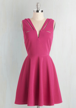 Have a Niche Evening Dress in Magenta