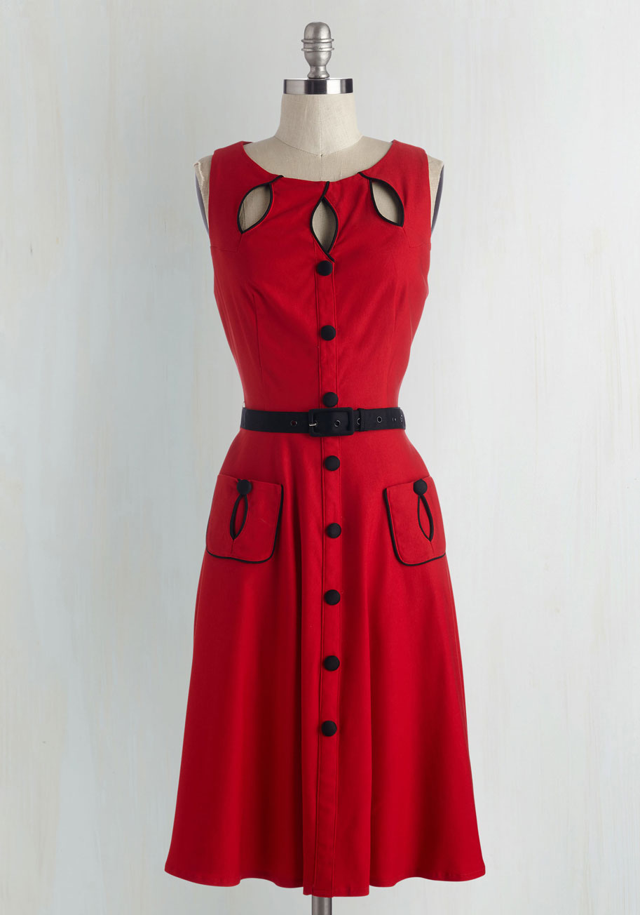 Ruby Red Dresses Swell-heeled Dress in Ruby a