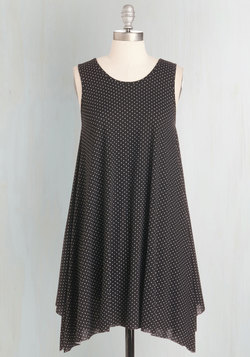 The Swingingest Spots Dress in Black Dots