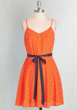 Epic Sail Dress in Tangerine