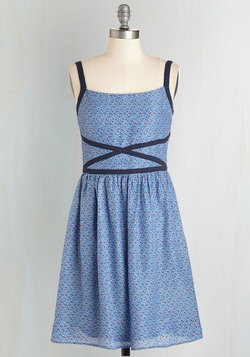 Afternoon with Your Buds Dress in Periwinkle