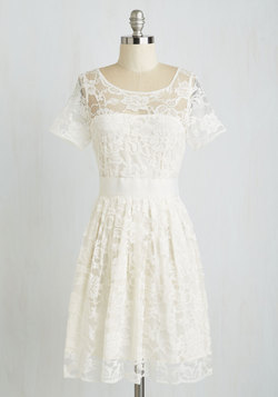 Adrift on a Cloud Dress in Ivory