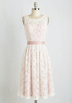 Lacy in Love Dress in Blush
