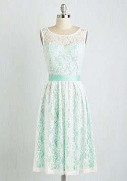 Lacy in Love Dress in Mint