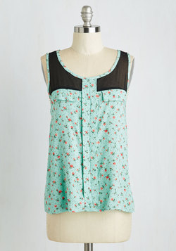 Heart Nouveau Top in Roses