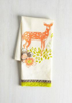 All Good in the Woods Tea Towel in Deer