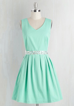 Sophisticated Spirit Dress in Mint