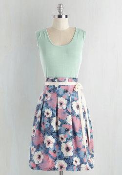Scenic Road Trip Dress in Mint Garden