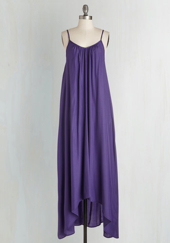 Wish Fulfillment Dress in Purple - Maxi
