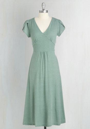 Word to the Blithe Dress in Sage $89.99 AT vintagedancer.com