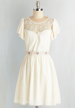 Indie Darling Dress in Ivory