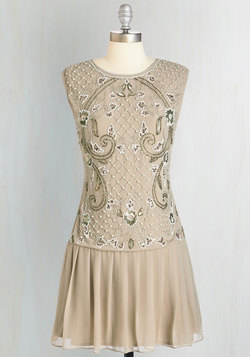 Cabaret of Light Dress in Champagne