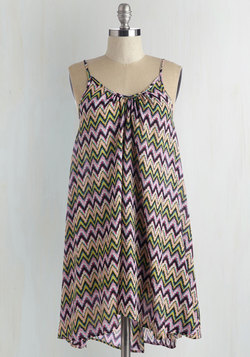 Wish Fulfillment Dress in Chevron - Mini