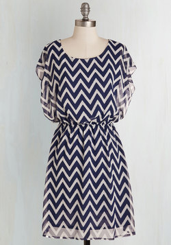 Miracle Moxie Dress in Navy and White