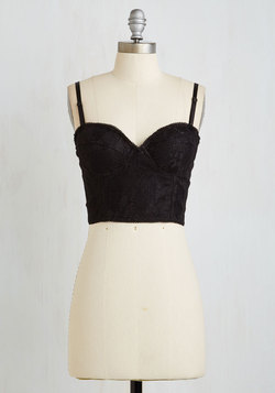Edgy Occasion Bustier Top